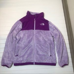 The north face girls size large purple euc!